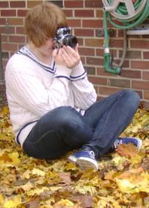 A Photo of Granddaughter Brigitta Taking a Photo!